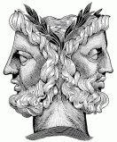 The two faces of Janus represent the dozens of community theaters in Florida