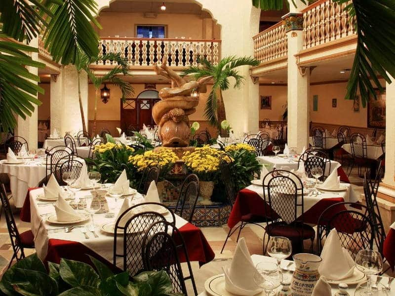 The interior of the Columbia Restaurant in Tampa sets the standard for Florida restaurants