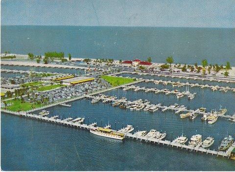 Vintage Postcard, Fort Lauderdale Bahia Mar Marina