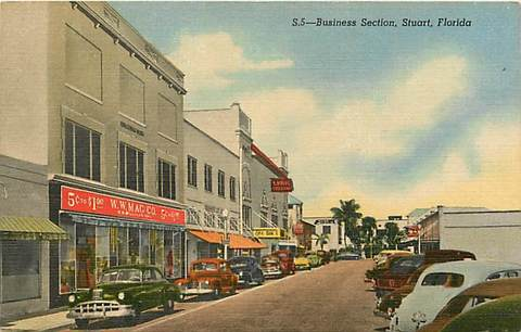 Downtown Stuart in the 1940s