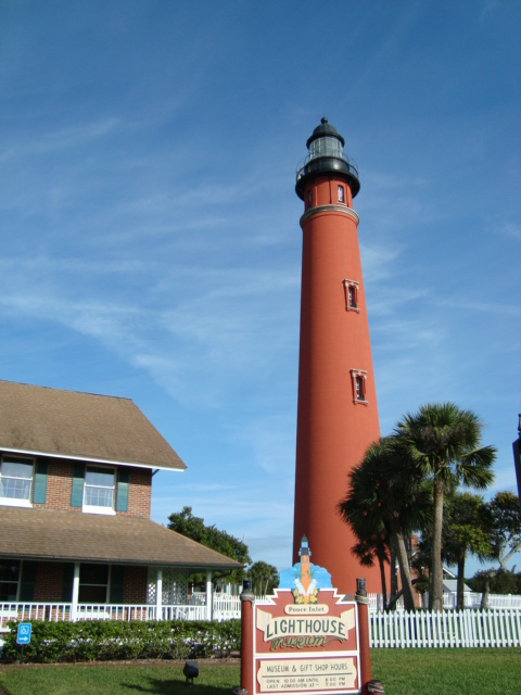 Ponce Inlet Florida End Of The Road Town And Lighthouse