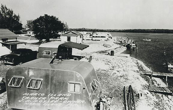Marco Island Trailer Park in the Early Days