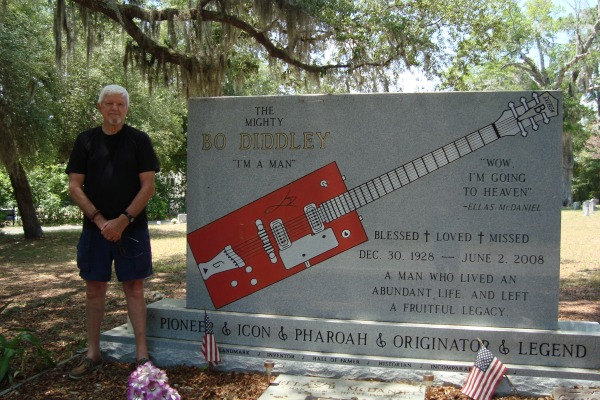 Bo Diddley Grave in Bronson, Florida