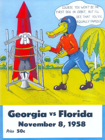 Florida Georgia Football 1958 Poster