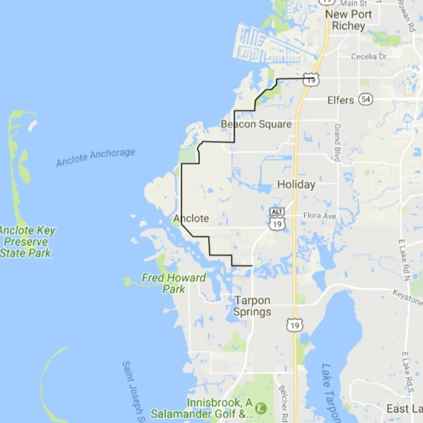 Central West Florida Day Trips And One Tank Trips - Map of us 19 north of tampa road