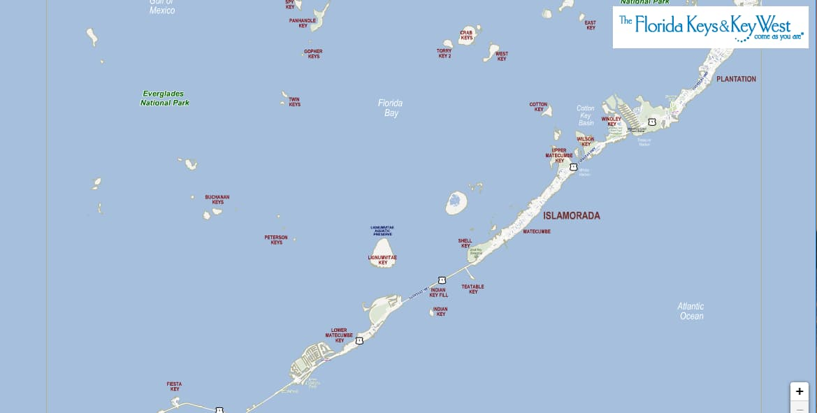 Interactive Map of Islamorada and Matecumbe