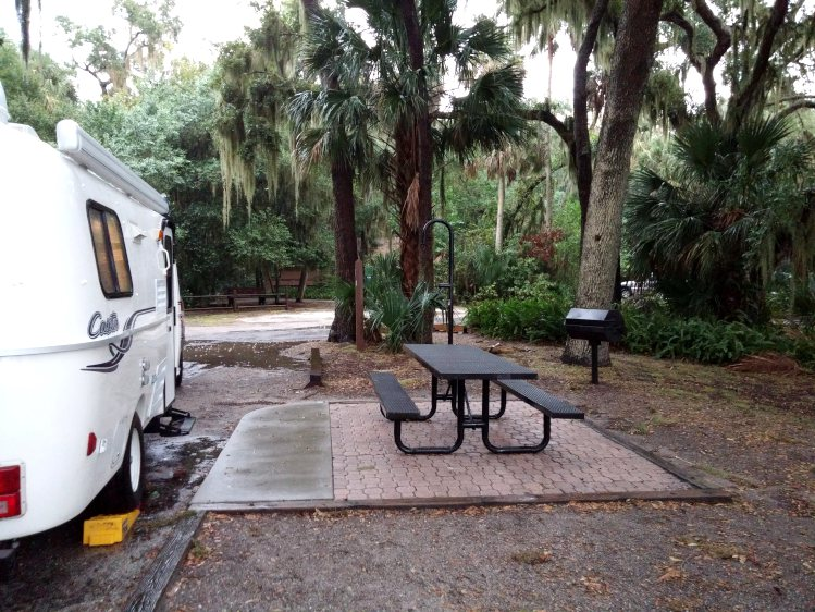 Campsite at Trimble Park in Orange County, Florida near Tangerine