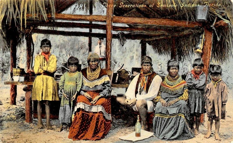 Three Generations of a Seminole Indian Family