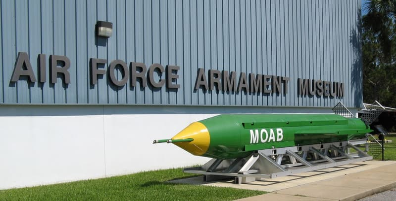 MOAB Missile at Air Force Armament Museum