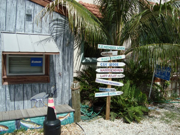 Boca Grande Florida Direction Sign