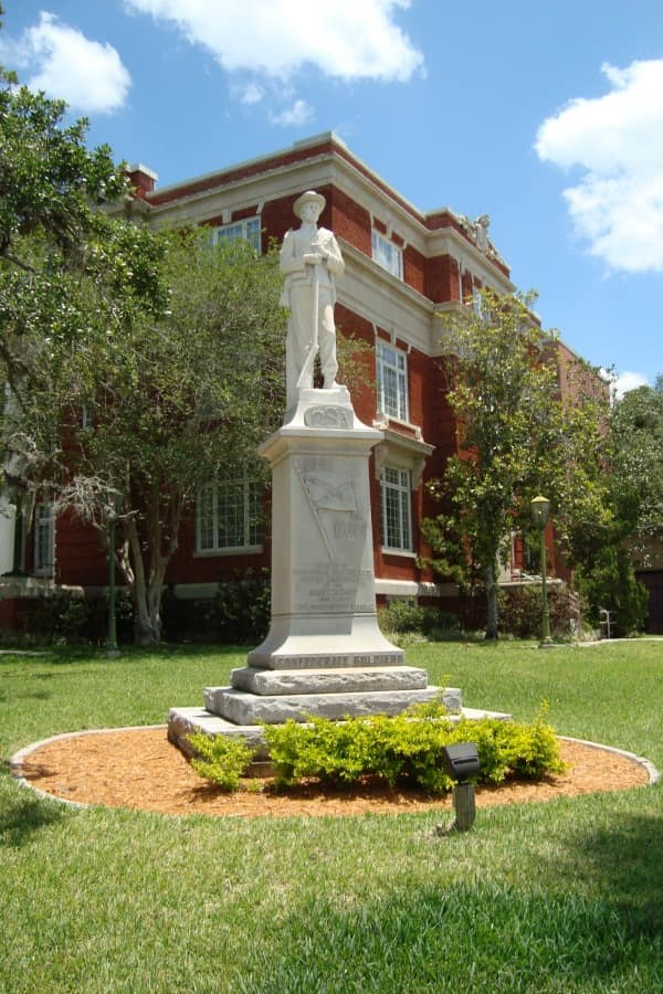 Confederate Monument in Brooksville, Florida