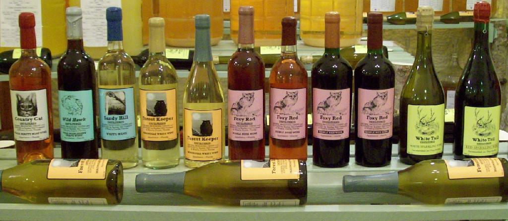 Bunker Hill Vineyard Wine Bottles