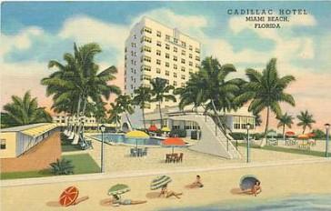 Vintage Postcard Cadillac Hotel in Miami Beach