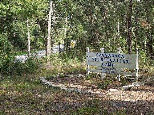 Welcome Sign at Cassadaga Spiritualist Camp