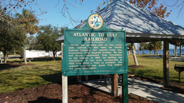 Historical Marker About Florida's First Railroad