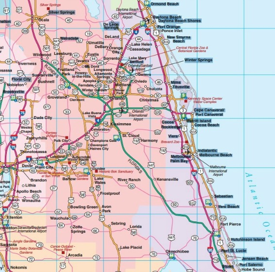 Florida Road Map Florida Backroads Travel Has 9 of Them – Florida Travel Map