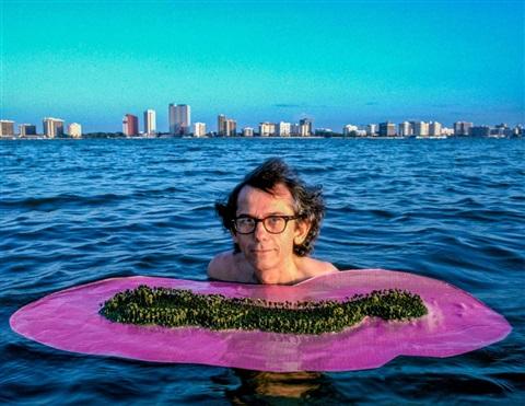 Christo Floating His Idea