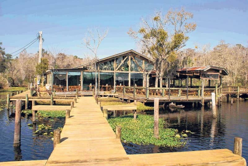 Clarks fish camp offers fine food in the setting of a for Florida fish camps