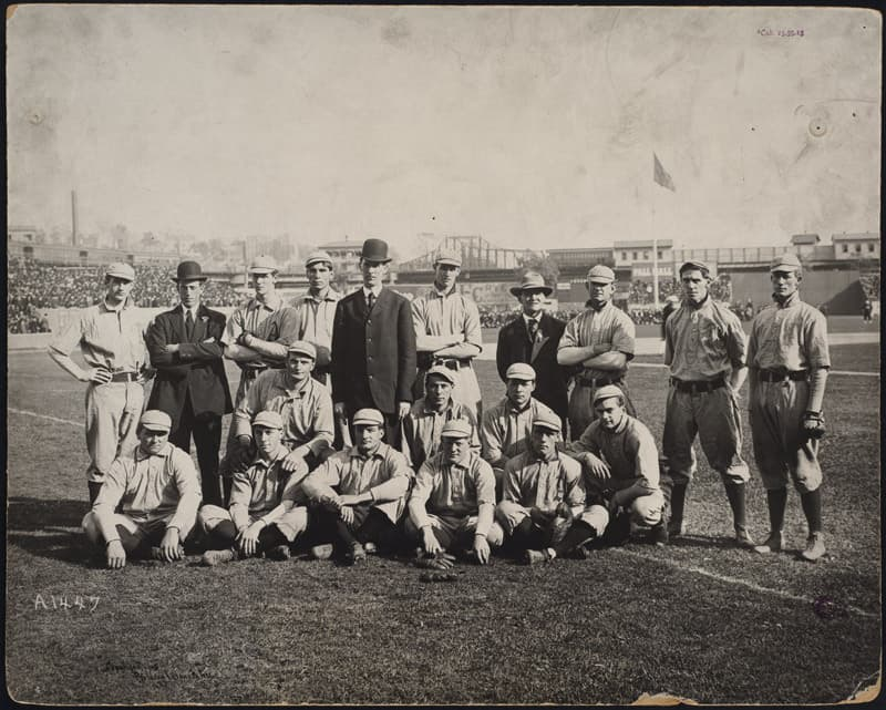 The 1905 Philadelphia Athletics with Connie Mack