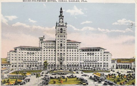 Vintage Postcard Biltmore Hotel in Coral Gables