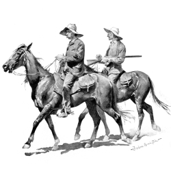 Florida Cracker Cowboys by Frederic Remington
