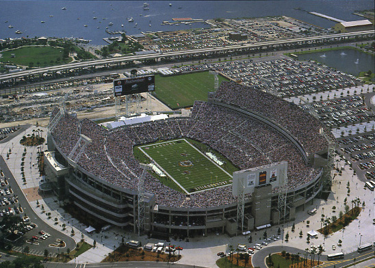 TIAA Bank Field on the St Johns River in Jacksonville