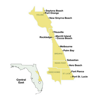Central East Florida Travel Guide Map