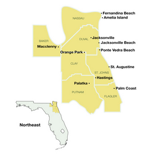 Northeast Florida Beaches Map.Florida Day Trips Scenic Drives With Highway Maps