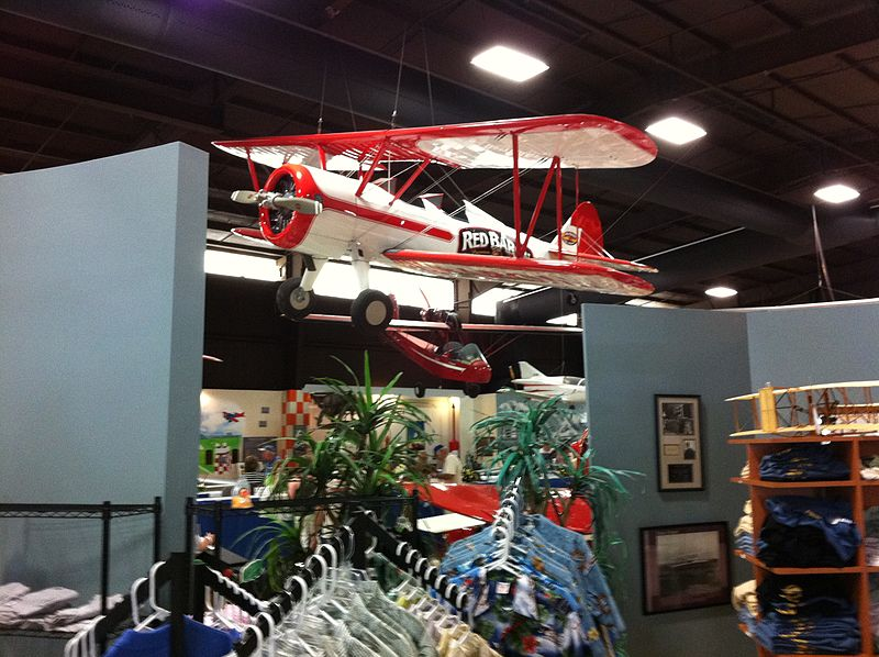 Florida Air Museum.  The Red Baron Pizza Stearman airplane.