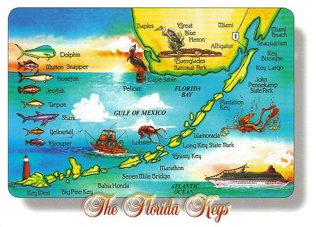 Map Of The Florida Keys Florida Keys Travel Guide: Tips, Food, Lodging,Maps, Webcams