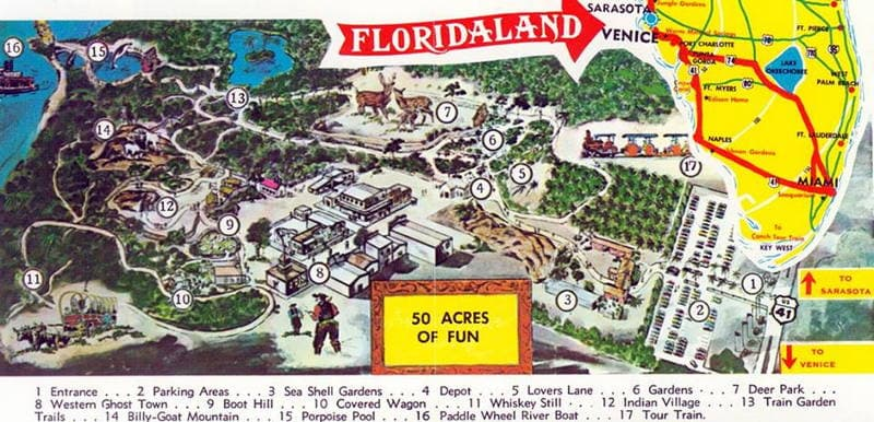 Lost Florida Tourist Attractions Are Part Of Florida History And – Florida Tourist Attractions Map