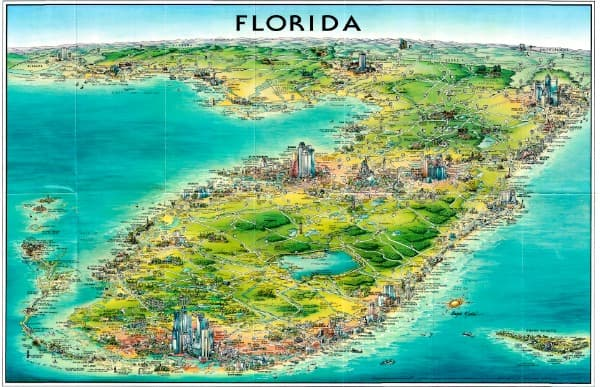 Florida Map from Unique Media 2015