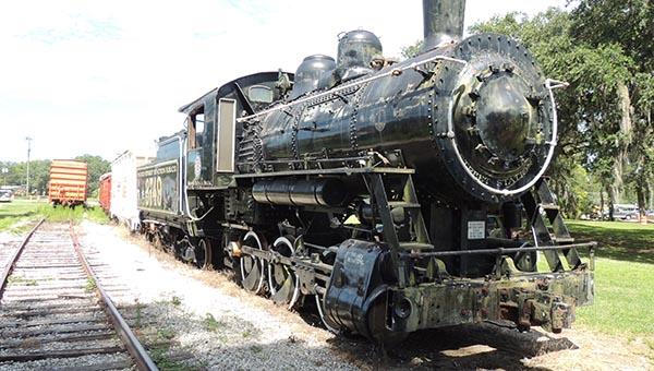 Frisco 3749, a Baldwin 0-6-0 Locomotive at the Florida Railroad Museum