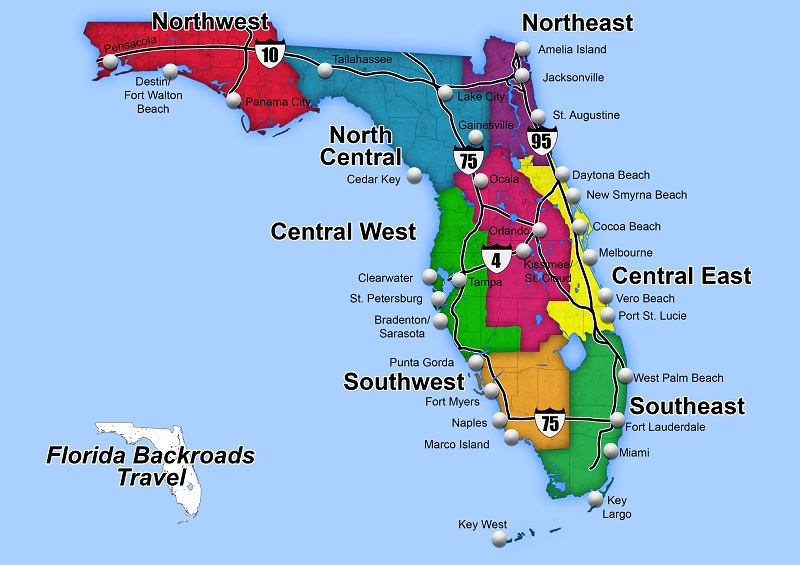 Florida Map With Cities And Towns Best Florida Towns and Cities. Shopping, Dining, History, Maps