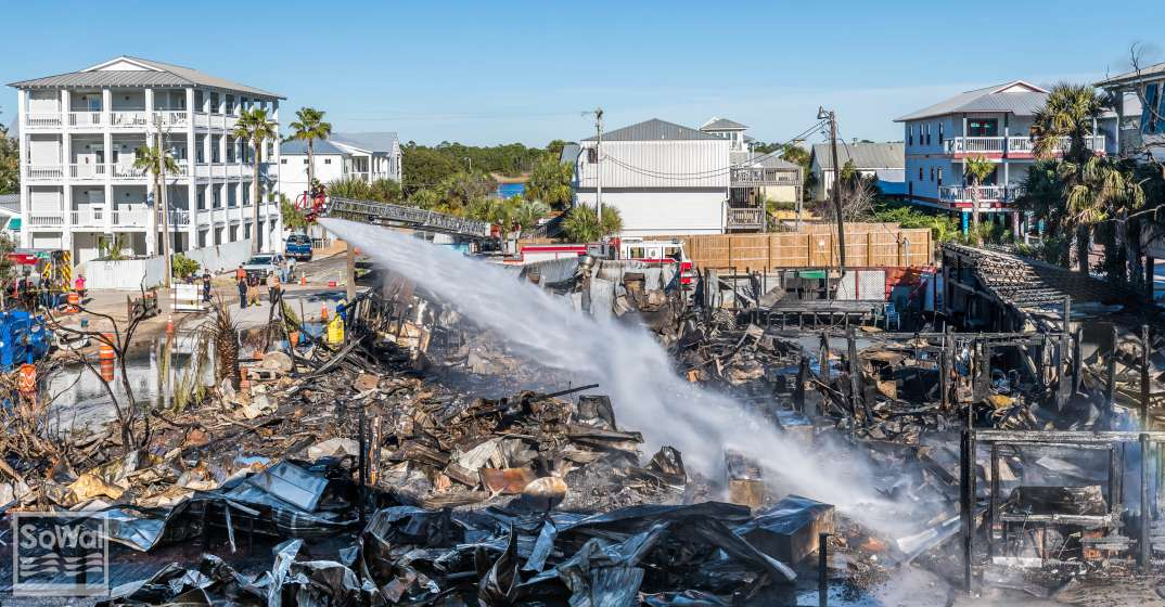 Red Bar in Grayton Beach Destroyed by Fire in February 2019