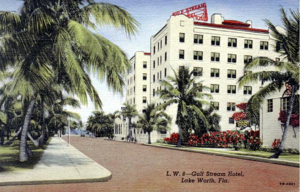 Vintage Postcard Gulf Stream Hotel in Lake Worth