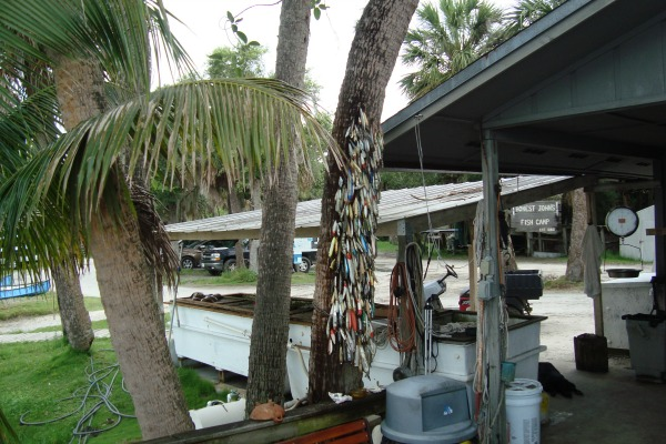 Fishing lures at Honest John's Fish Camp