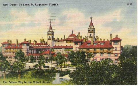 Vintage Postcard St Augustine, Florida