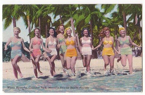 Key Biscayne Florida Vintage Postcard