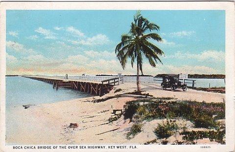 Key West Boca Chica Vintage Postcard