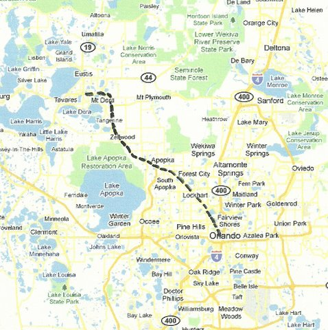 Lake Dora Florida Map.Central Florida Road Trips And Scenic Drives With Maps