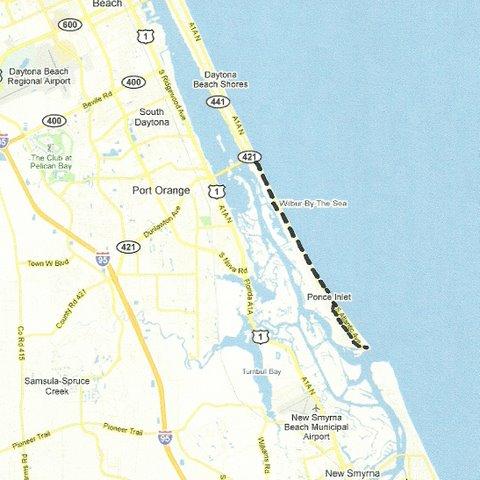 Daytona Beach to Ponce Inlet
