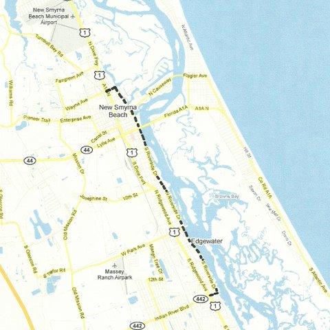 New Smyrna Beach To Edgewater