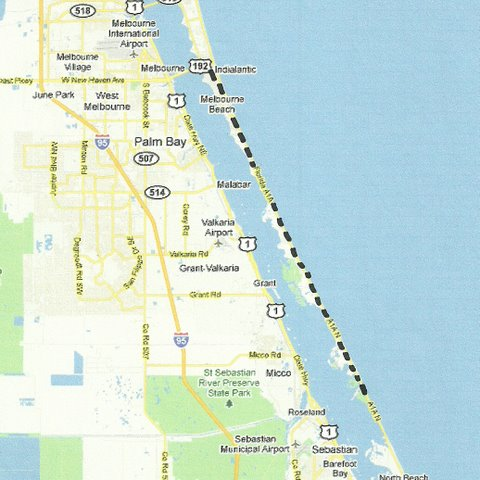 Map Of Melbourne Florida.Central East Florida Road Trips And Scenic Drives With Maps