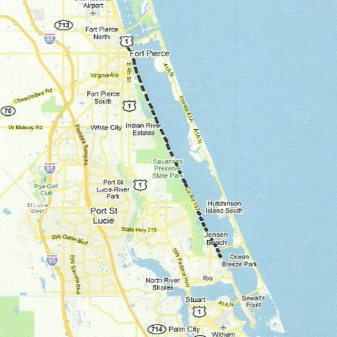 Indian River Florida Map.Southeast Florida Road Trips And Scenic Drives With Maps