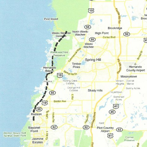 Weeki Wachee Florida Map.Central West Florida Road Trips And Scenic Drives With Maps