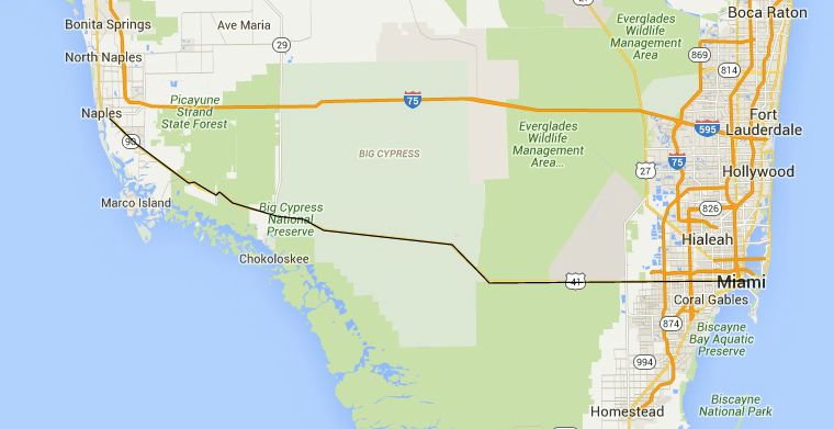 Florida Road Trips On The EastWest Highways - Us 27 map