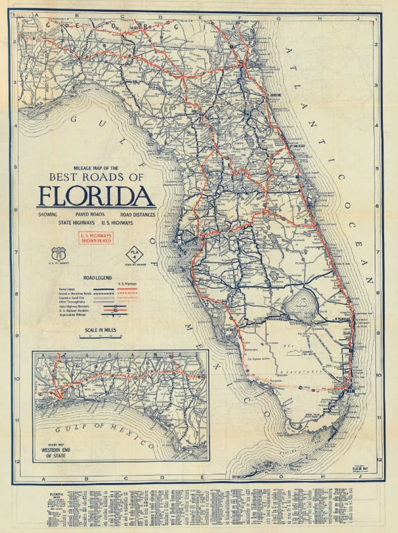 Best Roads of Florida 1927 - Florida Memory