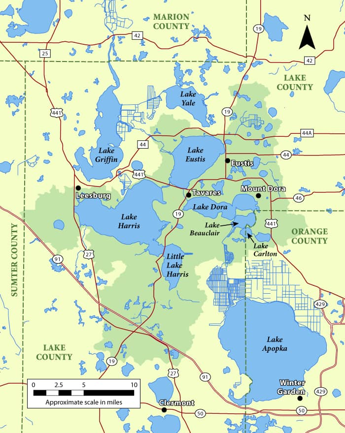 Harris Chain of Lakes in Florida