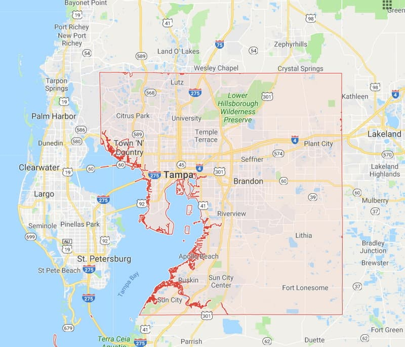 Florida County Map With Roads.Florida County Boundary And Road Maps For All 67 Counties